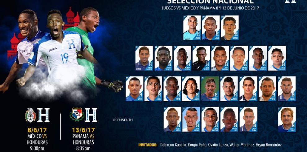 Honduras convoca a 25 jugadores para enfrentar a México y Panamá