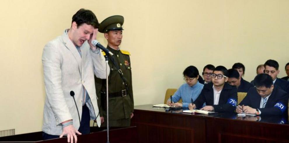 Pyongyang libera a estudiante estadounidense condenado