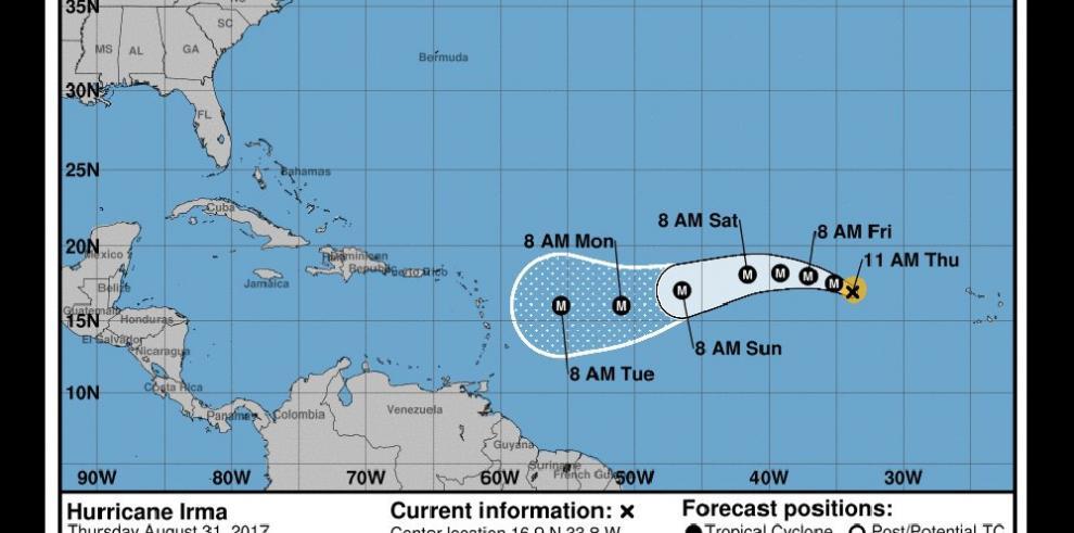 El huracán Irma sube a categoría 3 en su camino hacia el Caribe