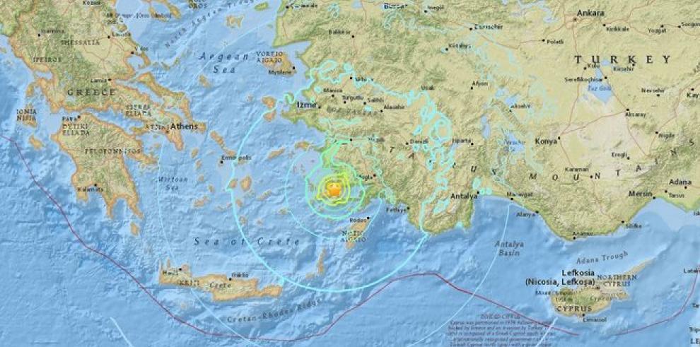 Terremoto de 6,4 grados deja dos muertos en la isla griega de Kos