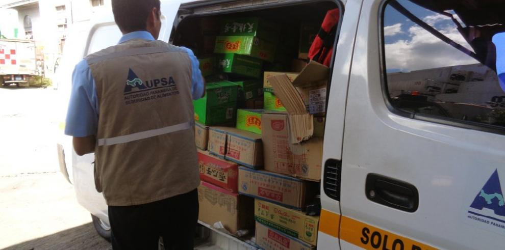 Aupsa destruye más de 30 kilogramos de alimentos importados