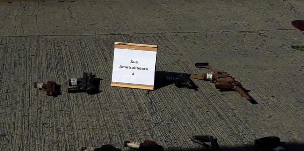 Policía Nacional destruye 730 armas de fuego