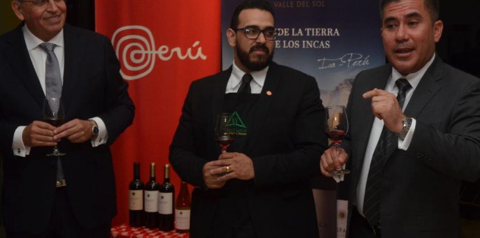 Presentación de vinos peruanos