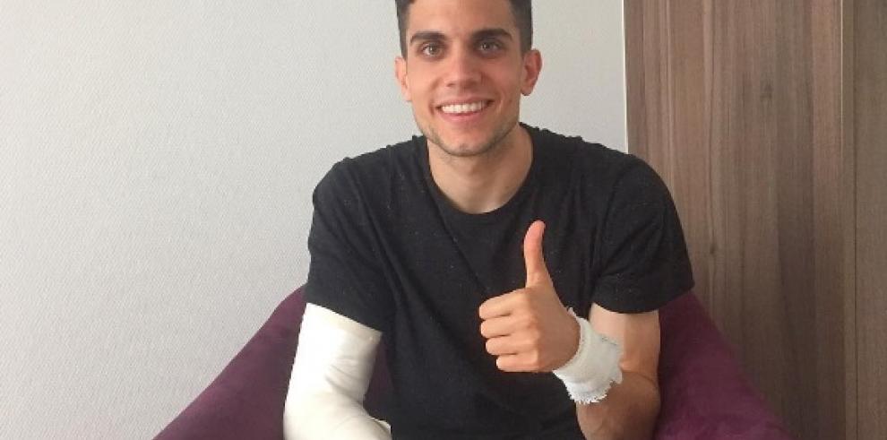 Bartra, operado con éxito tras ataque contra bus del Borussia Dortmund