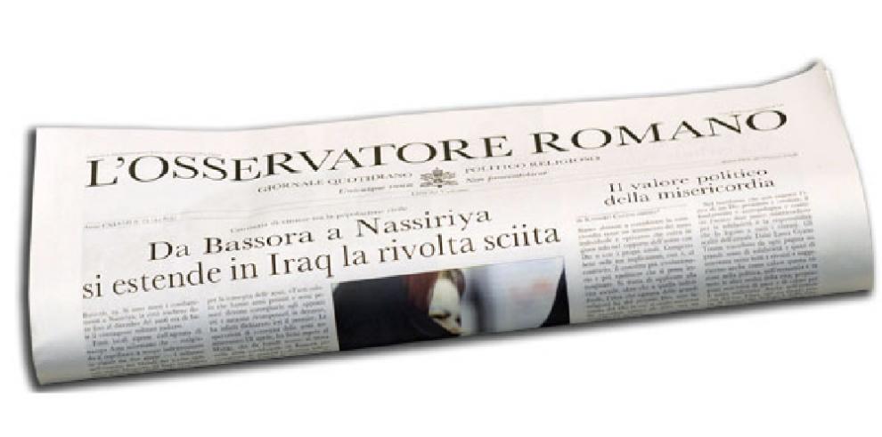 'L'Osservatore romano'tendrá una edición en Panamá