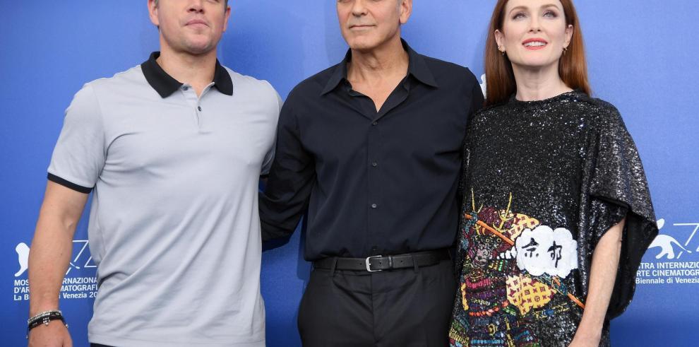 Clooney gusta mucho en Venecia con una loca comedia con el racismo de fondo