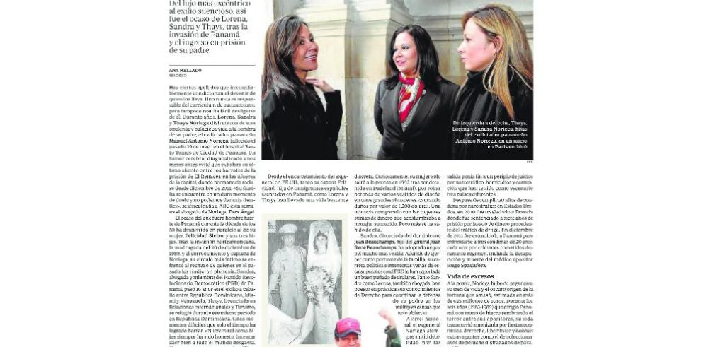 Noriega y Martinelli 'repican' en las noticias de medios europeos