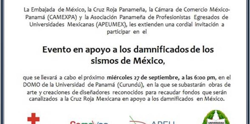 Apoyemos a los damnificados de México