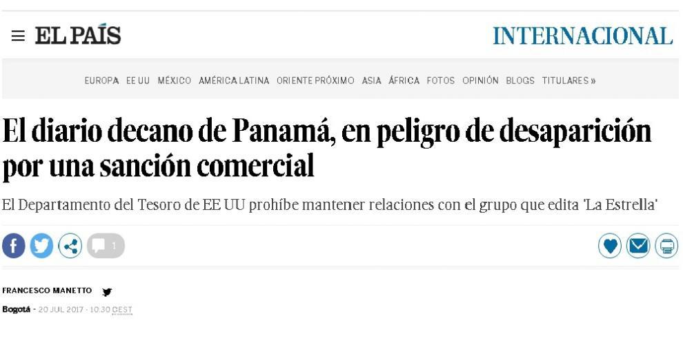 Diario El País se hace eco de la situación que enfrenta el Grupo GESE