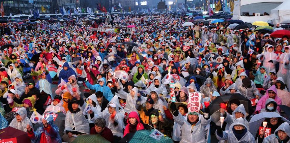 Manifestaciones en las calles de Seúl