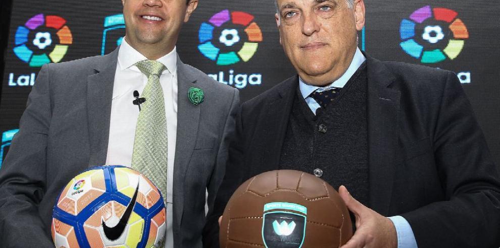 Según Tebas, 'el fútbol español está saneado'