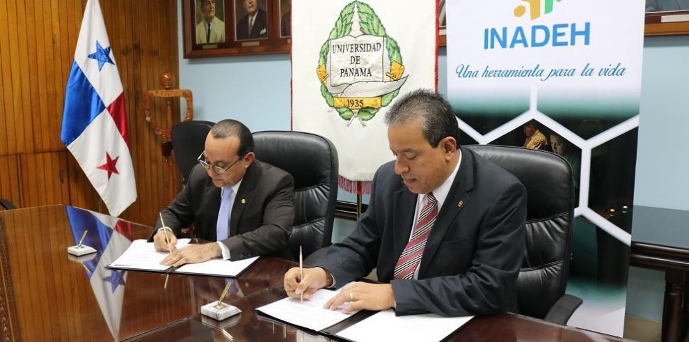 Inadeh y UP firman acuerdo decooperación académica