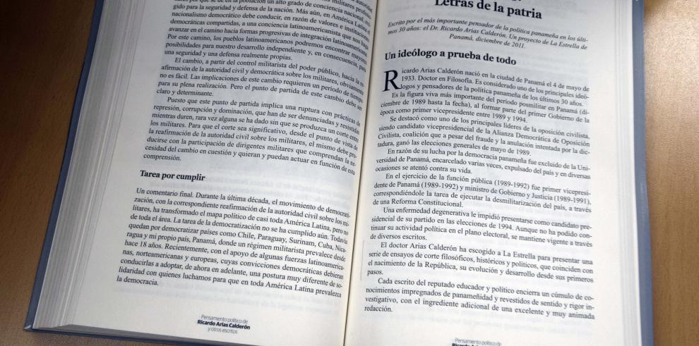 Ricardo Arias Calderón, 'por sus escritos los conoceréis'