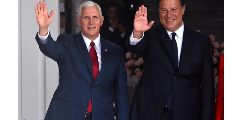 Vía interoceánica y Venezuela dominan discurso de Pence