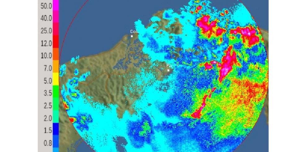 Sinaproc: sistema de mal tiempo proveniente de Colombia afecta el país