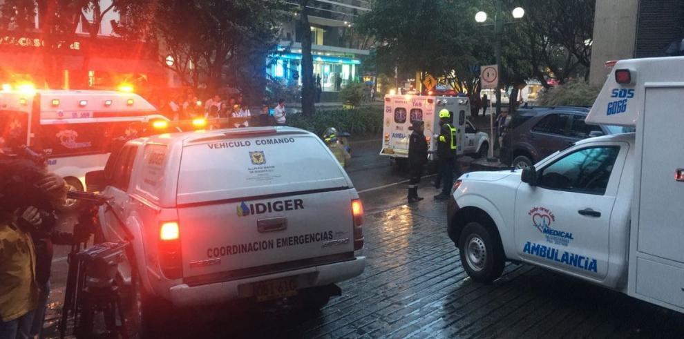 Al menos una muerto y once heridos en atentado terrorista en Bogotá