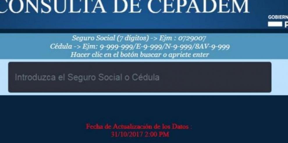 MEF habilita página web para verificar Cepadem