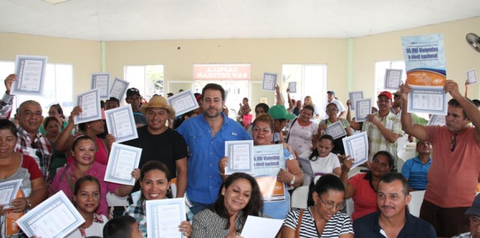 Miviot legaliza undécimo asentamiento informal en Pacora