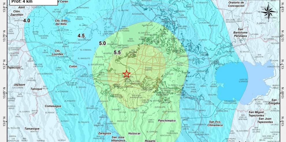 Sismo de magnitud 5,1 sacude centro salvadoreño y alarma a población