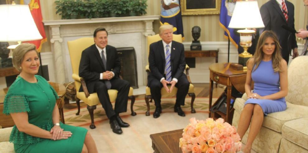 Varela se reunió con Donald Trump, presidente de EEUU