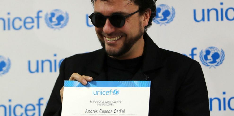 El músico Andrés Cepeda es el nuevo embajador de Unicef Colombia