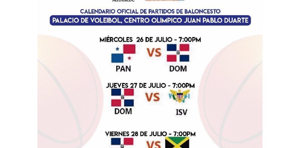 Ocho países competirán en el Centrobasket Sub-17 en Santo Domingo
