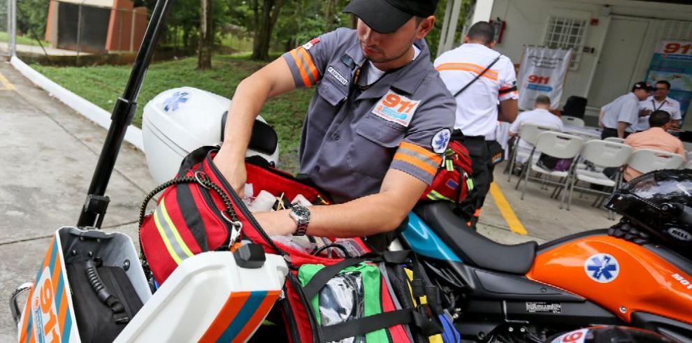 Sume 911 dispone de tres motocicletas para intervenciones rápidas