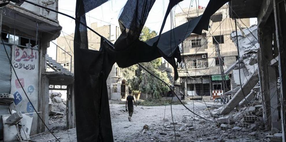 Mueren seis miembros de misma familia en un bombardeo en Siria