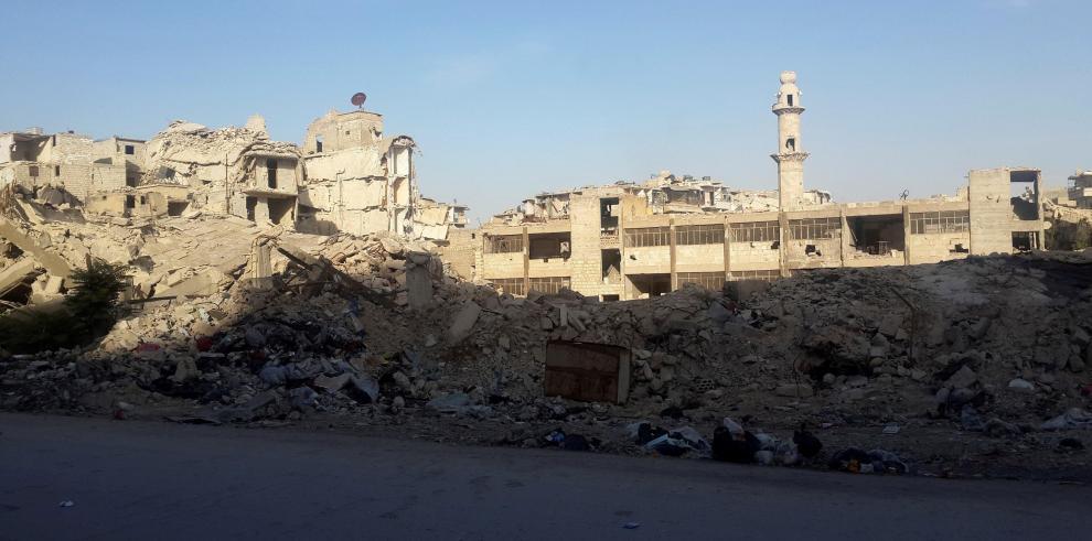 La reconstrucción de edificios sigue siendo la tarea más acuciante en Alepo