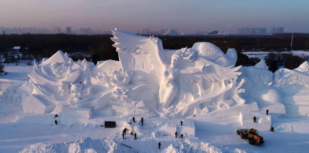 Harbin, lista para el festival de hielo y nieve