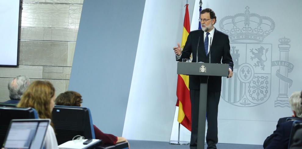 Rajoy aplica 155 para frenar independencia de Cataluña