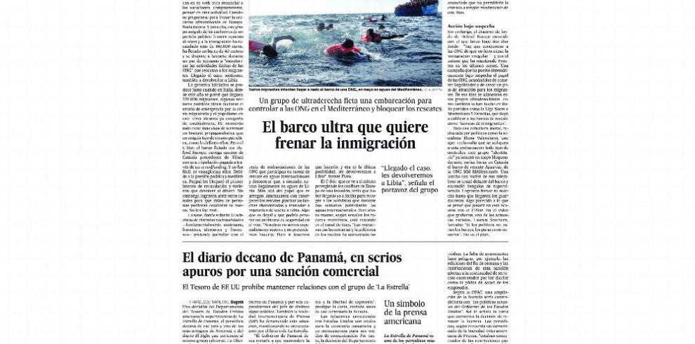 'La Estrella de Panamá' destaca en noticias de la prensa extranjera