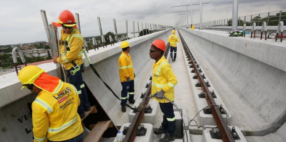 Línea 2 del Metro de Panamá alcanza avance del 50 %