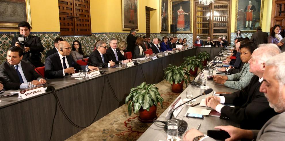 Inicia reunión de cancilleres en Perú sobre situación en Venezuela