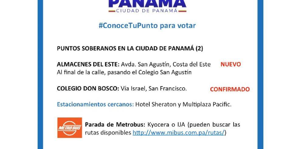Conozca más sobre la consulta a la que acudirán venezolanos en Panamá este domingo