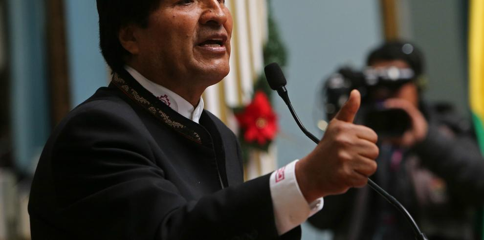 Evo Morales tilda de