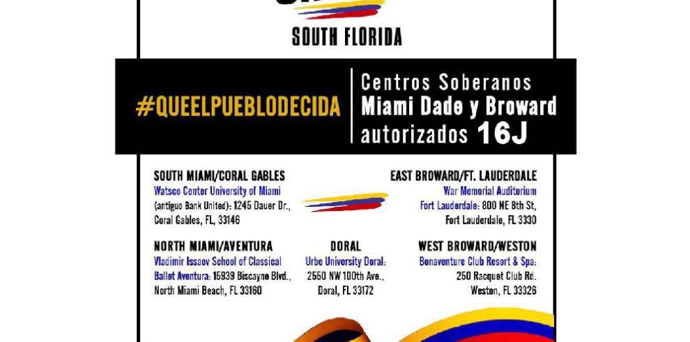 Venezolanos en Florida se sumarán a la consulta de la oposición este domingo