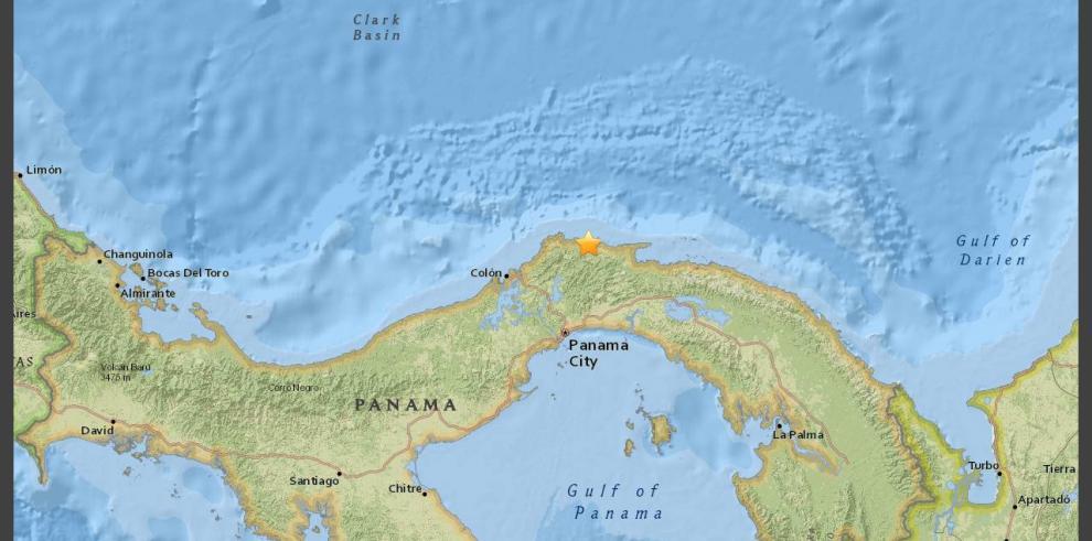 Sismo de 4.1en la escala de Richter a 29 km de Portobelo