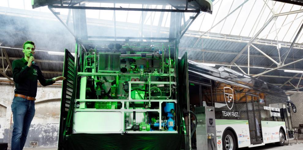 El autobús movido por ácido