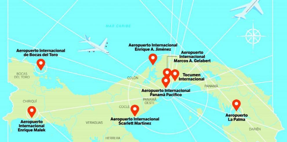 Panamá proyecta el reordenamiento de su espacio aéreo