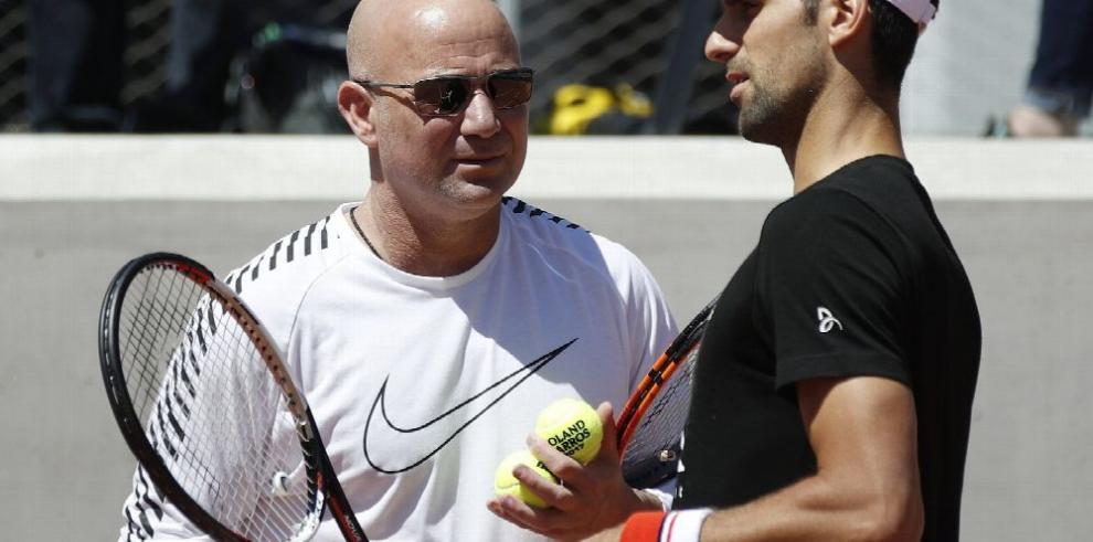 Agassi y Djokovic unen sus talentos para triunfar