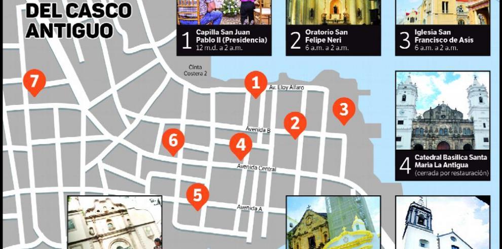 El andar por las siete iglesias