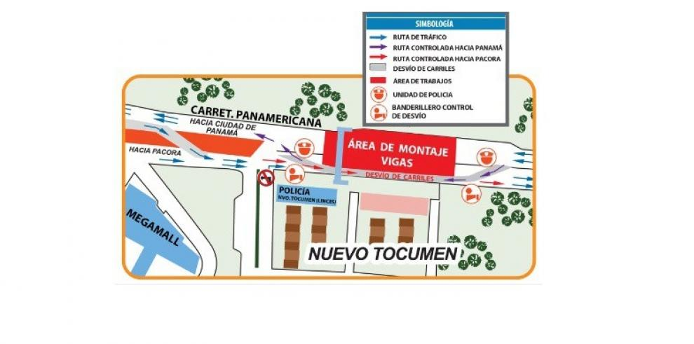 Desvíos hasta el 20 de octubre en Nuevo Tocumen por Montaje de Vigas