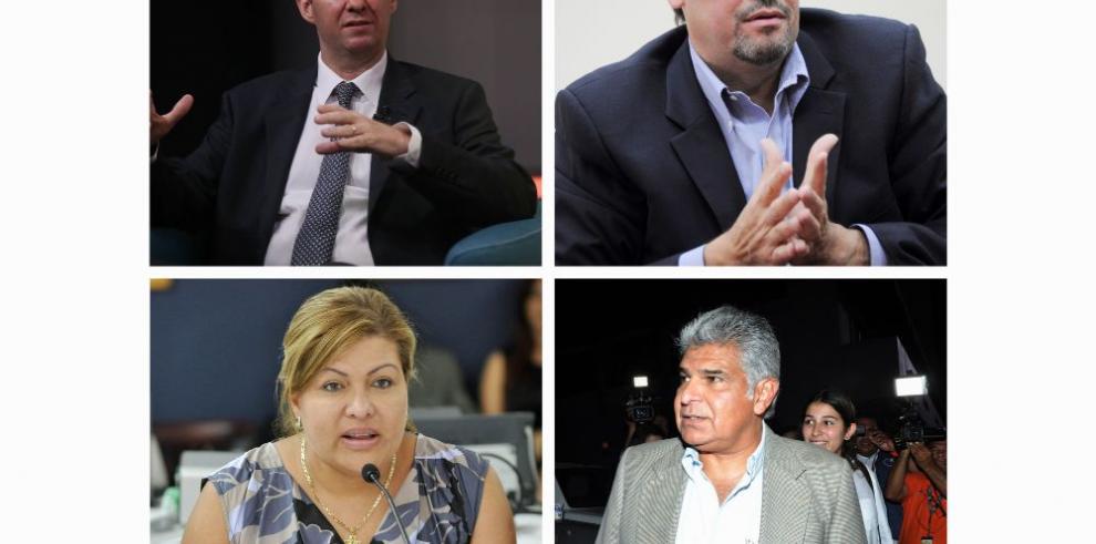 Cuatro presidenciables del CD frente a la justicia penal