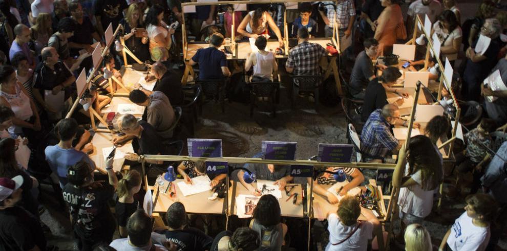 Buenos Aires se colma de color en 'La noche de los dibujantes'