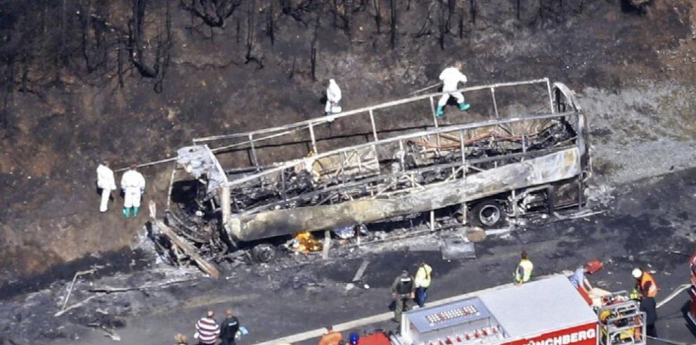 Dieciocho muertos al chocar bus con camión articulado en Alemania