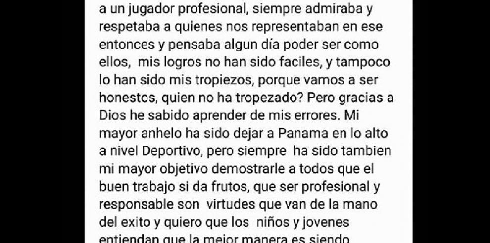 Felipe Baloy ofrece disculpas por ataques a periodista panameño