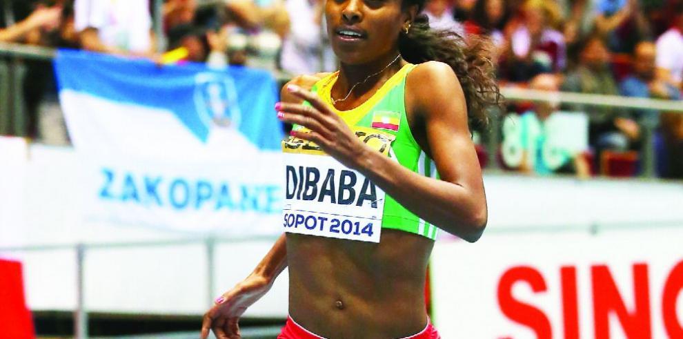 Dibaba falla intento de récord mundial de mil metros