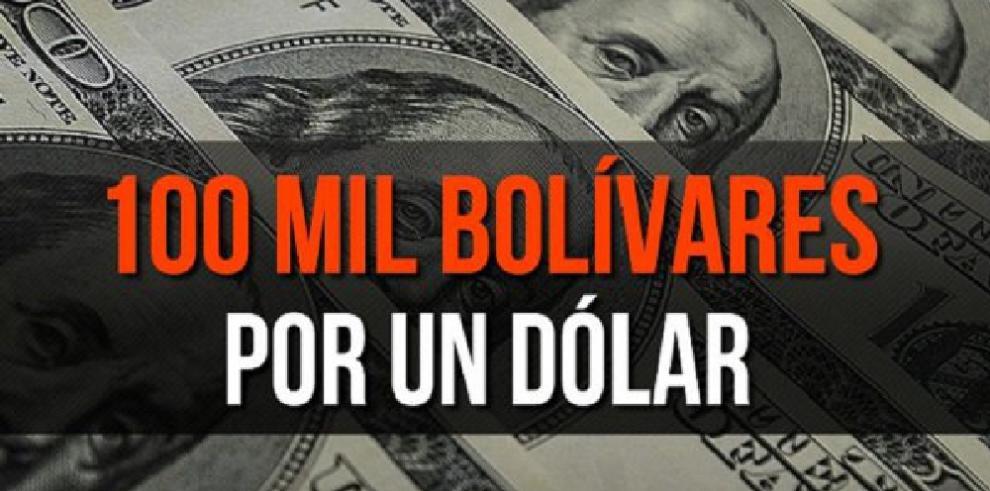 Dólar paralelo en Venezuela supera la barrera de los 100.000 bolívares