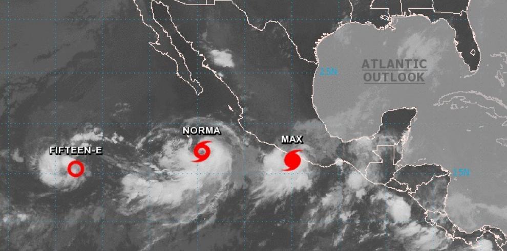 Se forma la tormenta Norma en el Pacífico mientras Max avanza hacia México